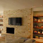 Preston Hollow Luxury Home Remodeling Stone Fireplace