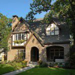 Dallas Tudor Custom Home Exterior