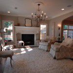 Dallas Tudor New Home Construction Living Room