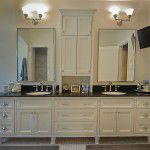 Dallas Tudor Custom Home Master Bath
