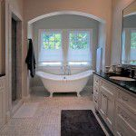 Dallas Tudor New Home Construction Master Bathroom