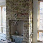 Forest Hills Luxury Home Stone Fireplace