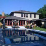 Forest Hills Luxury Home Backyard