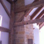 1800's New Ranch Home Interior Beams