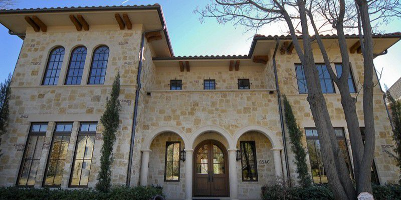 Dallas Custom Tuscan Villa Home Front Exterior