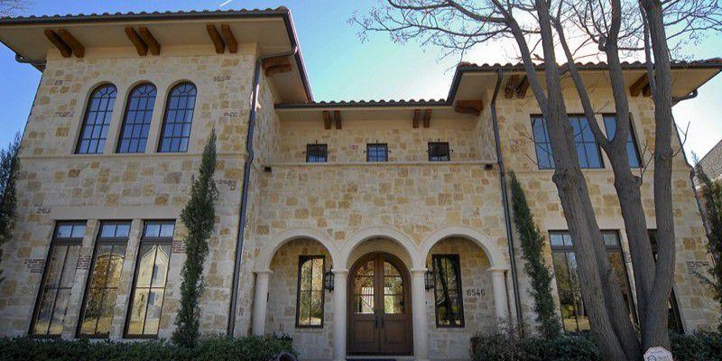 Dallas Custom Tuscan Villa Home Front Exterior