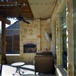 Dallas Custom Tuscan Villa Home Stone Fireplace