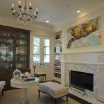 University Park Custom Traditional Home Fireplace