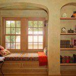 Hutsell window seat and bookshelves