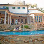 Forest Hills New Custom Home Pool and Landscaping