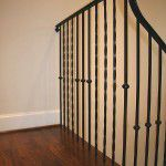 Lower Greenville Traditional Home Remodel Iron Stair Railing