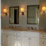 Lower Greenville Traditional Home Remodel Double Vanity Bath